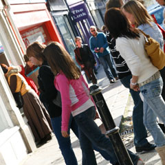 young people shopping in Truro